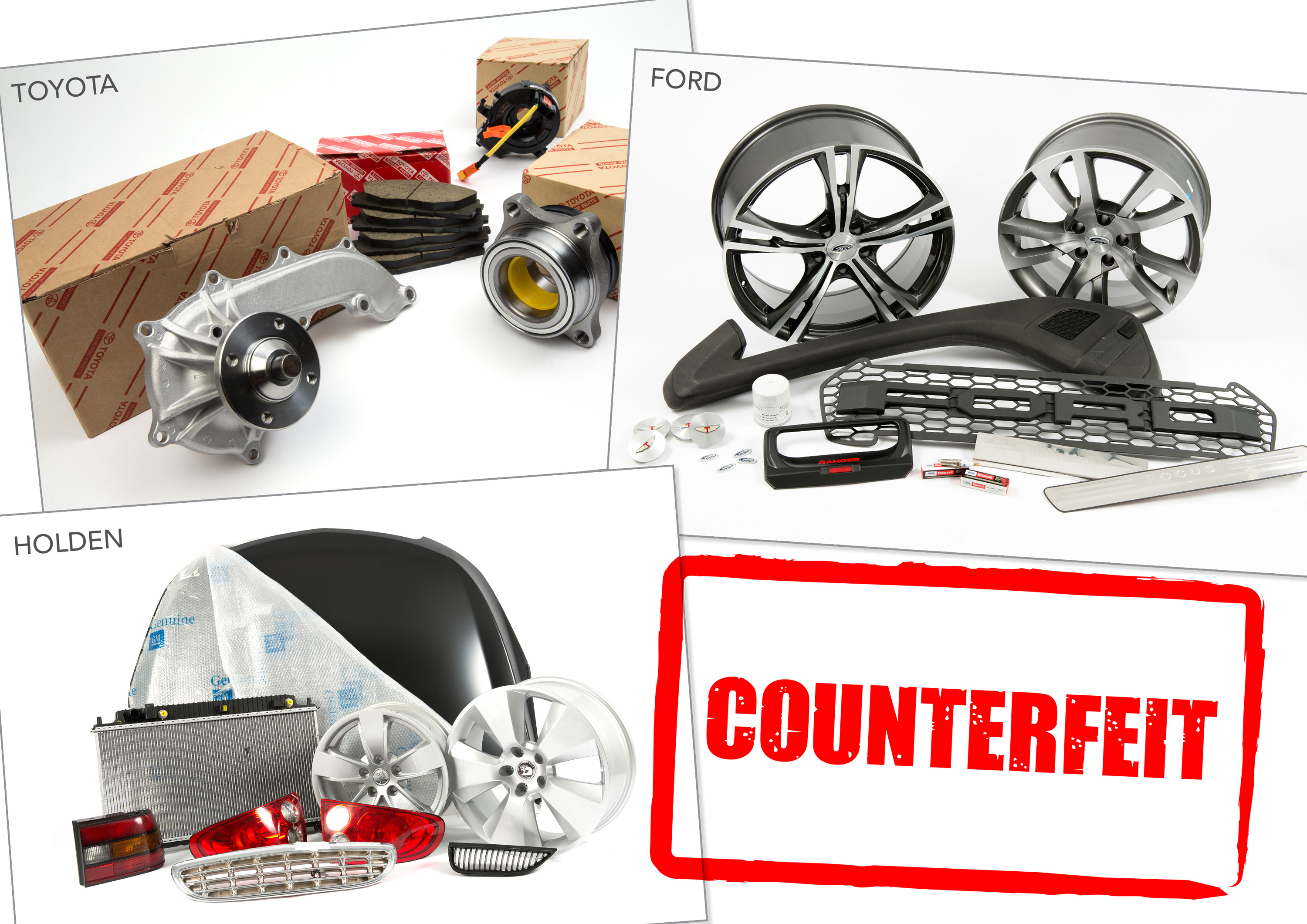 COUNTERFEIT PARTS ISSUE HITS HOME - Genuine is best