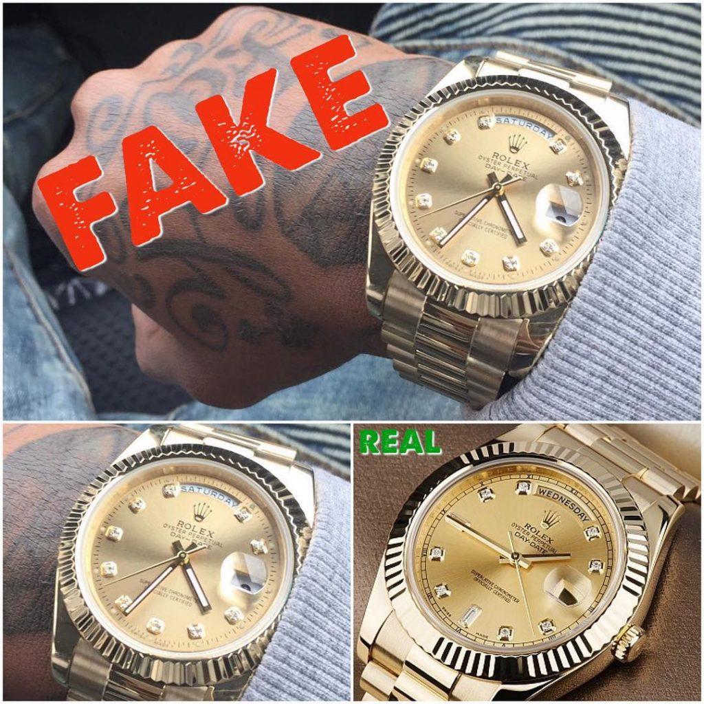 Fake wrist watches