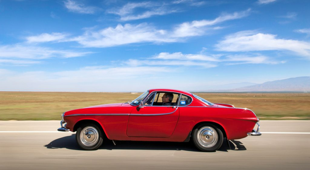 Irvin Gordon and his Volvo P1800S have covered five million kilometres thanks to genuine parts and authorised servicing.