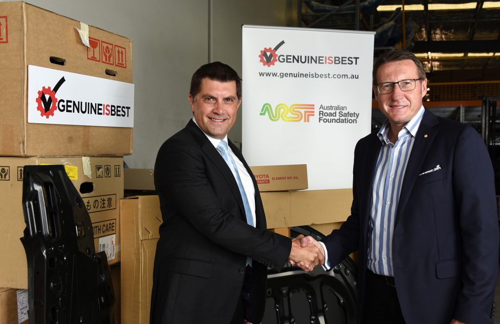 ARSF founder and CEO Russell White (left) and Genuine Is Best ambassador Mark Skaife.